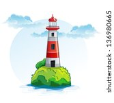 cartoon image of the island... | Shutterstock .eps vector #136980665