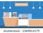 sweet shop counter. showcase... | Shutterstock .eps vector #1369813175