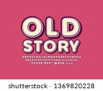 vector vintage style text old... | Shutterstock .eps vector #1369820228