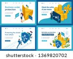 set of landing pages  isometric ... | Shutterstock .eps vector #1369820702
