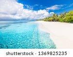 beautiful beach and tropical... | Shutterstock . vector #1369825235