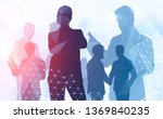 diverse and confident young... | Shutterstock . vector #1369840235