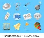 miscellaneous icons. vector... | Shutterstock .eps vector #136984262