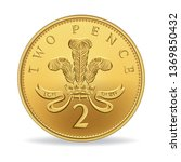 Two Pence Coin In Vector...