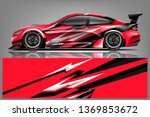 car wrap design vector  truck... | Shutterstock .eps vector #1369853672