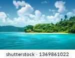 beautiful paradise green island ... | Shutterstock . vector #1369861022