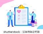 health check up flat vector... | Shutterstock .eps vector #1369861958