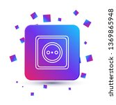 trendy square with particles... | Shutterstock .eps vector #1369865948