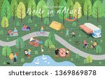 people in nature. vector... | Shutterstock .eps vector #1369869878