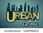 urban background on grange... | Shutterstock .eps vector #136990652