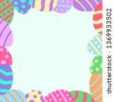easter poster background | Shutterstock .eps vector #1369933502