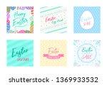 easter poster background pack... | Shutterstock .eps vector #1369933532