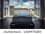 workplace of a writer ... | Shutterstock . vector #1369970285