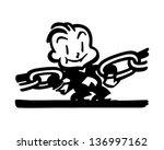 strongest link   retro clip art ...   Shutterstock .eps vector #136997162
