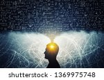 silhouette of a man  with... | Shutterstock . vector #1369975748