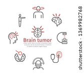 brain tumor cancer banner....   Shutterstock .eps vector #1369982768
