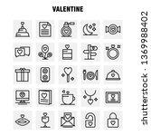 valentine line icon pack for... | Shutterstock .eps vector #1369988402