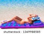 young beautiful women wearing...   Shutterstock . vector #1369988585