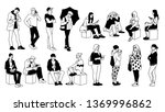 people in different poses.... | Shutterstock .eps vector #1369996862
