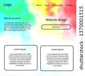 light multicolor vector web ui...