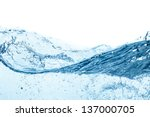 blue water wave abstract... | Shutterstock . vector #137000705