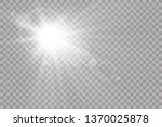 vector transparent sunlight... | Shutterstock .eps vector #1370025878