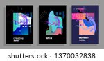 covers templates set with... | Shutterstock .eps vector #1370032838
