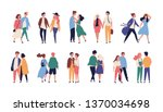 collection of couples on... | Shutterstock .eps vector #1370034698