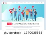 how to launch successful...   Shutterstock .eps vector #1370035958