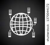 big data icon. white on black... | Shutterstock .eps vector #1370044172