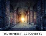rays of divine light illuminate ... | Shutterstock . vector #1370048552
