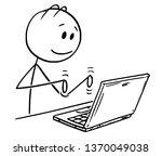 cartoon stick figure drawing... | Shutterstock .eps vector #1370049038