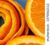 macro citrus fruit peel.... | Shutterstock . vector #1370062112