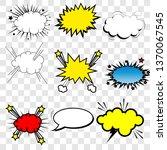 set of bubbles speech  oops...   Shutterstock .eps vector #1370067545