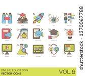 online education icons... | Shutterstock .eps vector #1370067788
