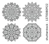 mandala coloring pages... | Shutterstock .eps vector #1370080922