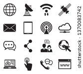 internet icons. set 2. black... | Shutterstock .eps vector #1370083742