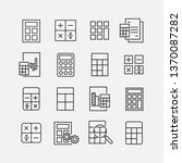 calculation related vector icon ...   Shutterstock .eps vector #1370087282