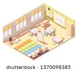 vector isometric kindergarten... | Shutterstock .eps vector #1370098385