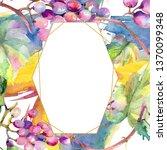 grape berry healthy food.... | Shutterstock . vector #1370099348