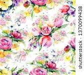 bouquets floral botanical... | Shutterstock . vector #1370099438