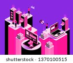smart system. abstract... | Shutterstock .eps vector #1370100515