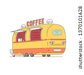 street coffee shop with drink.... | Shutterstock .eps vector #1370101628