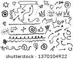 swishes  swoops  emphasis...   Shutterstock .eps vector #1370104922
