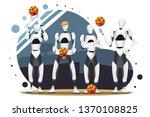 vector illustration of robot... | Shutterstock .eps vector #1370108825