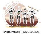 vector illustration of robot... | Shutterstock .eps vector #1370108828