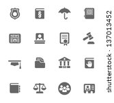 law icons | Shutterstock .eps vector #137013452
