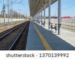 empty platform of railway... | Shutterstock . vector #1370139992