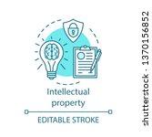 intellectual property concept... | Shutterstock .eps vector #1370156852