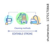 cleaning methods concept icon.... | Shutterstock .eps vector #1370170868
